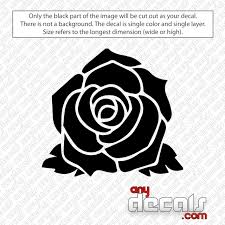 Rose Flower Decal Sticker Anydecals Com