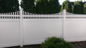 White Solid Pvc Fence With Scalloped Picket Accent Exterior New York By Bergen Fence