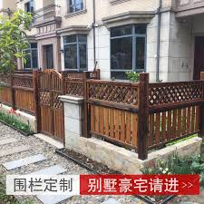 Usd 89 38 Anti Corrosion Wood Fence Outdoor Fence Carbide Wood Solid Wood Railing Garden Outdoor Balcony Balcony Guardrail Wooden Door Grid Wholesale From China Online Shopping Buy Asian Products Online From