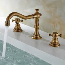 antique sink faucet brass finish