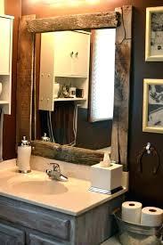 bathroom mirrors full wood frame mirror