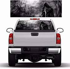 Amazon Com Practlsol Car Decals 1 Pcs Grim Reaper Decal Truck Stickers Rear Window Decal Car Decal Vinyl For Car Truck Suv Jeep Universal Scratch Hidden Car Stickers 64 96 Inch X 22 05 Inch Automotive