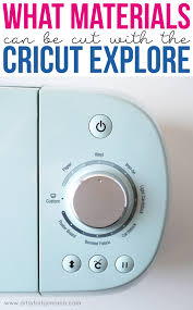 cut with the cricut explore