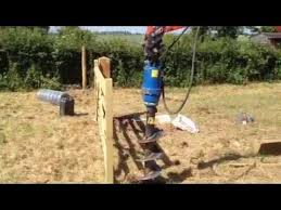 Post Hole Borer Hire Uk Fencing Solutions Youtube