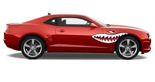 Shark Teeth Car Decals Dezign With A Z