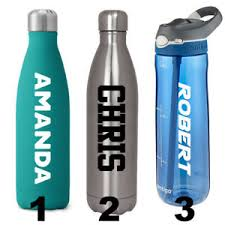 Custom Water Bottle Name Decal Sticker Personalized Bottle Name Label Ebay