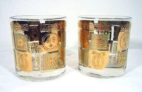 vintage georges briard glasses lot of 2
