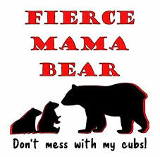 Fierce Mama Bear Don T Mess With My Cubs Vinyl Decal Bumper Sticker Momma Bear Ebay