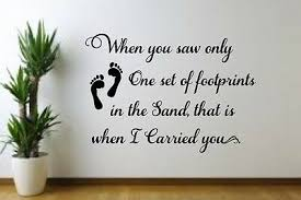 Footprints In The Sand W Print Vinyl Decal For Family Room Wall Bedroom Living Ebay