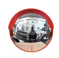 a convex traffic mirror for outdoor