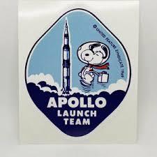 Snoopy Apollo 11 Launch Team Vinyl Decal Vintage Style Sticker Space 1960s Nasa Ebay