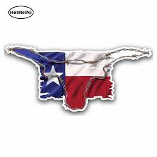 Hotmeini 13cm X 5 7cm For Texas Flag Tx Longhorn Cartoon Funny Car Stickers Vinyl Sunscreen Rv Van Fine Decal Jdm Accessories Car Stickers Aliexpress
