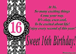 16th Birthday Wishes Happy Sweet 16 Messages Wishesmsg