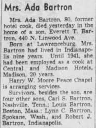 Ada Stevens Bartron obituary - Newspapers.com