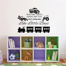 Tractors Trucks Trains And Toys There S Nothing Quite Like Little Boys Vinyl Wall Decal Kids Room Decor Sign For Playroom Kids Nursery Room Decor Wish