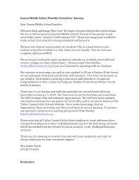 Easton Middle School Monthly Newsletter-‐ January Dear Easton ...