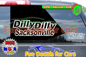 Dilly Dilly Sacksonville Vinyl Decal Jacksonville Fl Local Style B Fun Car