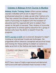 diploma in makeup artist course in