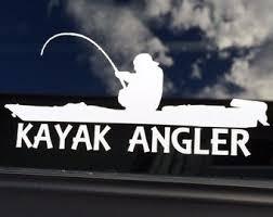Kayak Fishing Decal Etsy