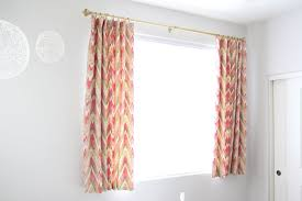 Natty By Design Short Curtains And A Pin Hook Tutorial Kids Room Curtains Short Curtains Short Window Curtains