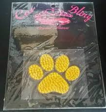 Crystal Heiress Car Bling Paw Print 4 X 5 Decal New Ebay