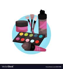 icon makeup tools cartoon vector image
