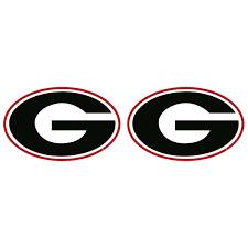 Georgia Bulldogs 2 Uga Super G Decal Sticker 2 Pack Universities Forever