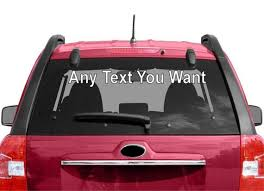 Any Name Decal Custom Car Window Business Vinyl Company Etsy