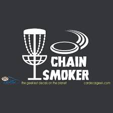 Disc Golf Chain Smoker Car Window Vinyl Decal Sticker