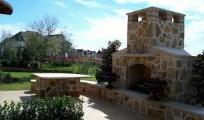how to build a stone outdoor fireplace