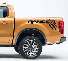 Product 2x Ford Ranger Side Bed Decal Graphics Emblem Logo