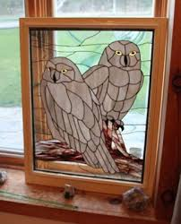 b bird and animal stained glass work