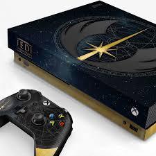 Xbox One X Console Skin Star Wars Jedi Starfield
