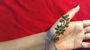 simple mehndi design tattoo
