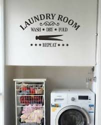 New Laundry Wash Dry Fold Repeat W Clothespin Wall Decal Sticker Art Ebay
