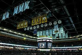 banners on the rafters at td garden