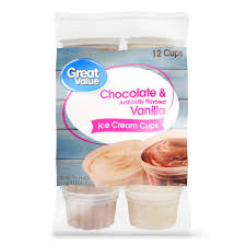 chocolate vanilla ice cream cups