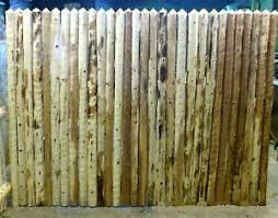 6 Rustic 1 2 Round Cedar Stockade Fence Heavy Old Time Quality Half Full Gate Ebay
