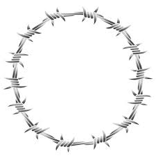 ᐈ Drawing Of Barb Wire Stock Images Royalty Free Barbed Wire Circle Download On Depositphotos