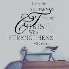 I Can Do All Things Through Christ Bible Quote Pvc God Wall Stickers Home Decal For Sale Online