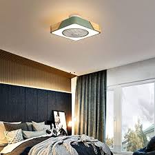 Amazon Com Sdds Children Lamp Ceiling Fan With Lighting Negative Ion Dimmable With Remote Control Quiet 3 Color Temperature Ceiling Light For Kids Room Living Room Restaurant Bedroom Fan Lamp Square Home Kitchen