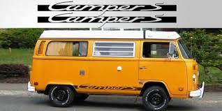 Volkswagen Camper S Vinyl Decal Pair Stripe Garage