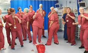 round of applause for NHS staff ...