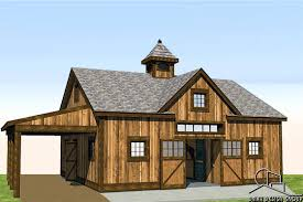 horse barn with living quarters floor