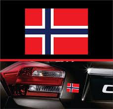 Norway Norwegian Flag Sticker Label Vinyl Decal Car Truck Suv Etsy