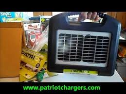 The Patriot Solar Powered Electric Fence Charger Sg155 From Www Patriotchargers Com Youtube