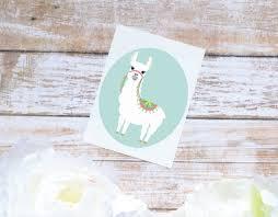 Llama Sticker Alpaca Vinyl Sticker Tumbler Decal Llama Etsy