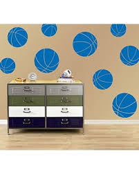 New Deal Alert Boys Room Basketball Wall Decals Room Decor For Kids Removable Sports Stickers Set Of 9 Azure Blue 30x30 Inches