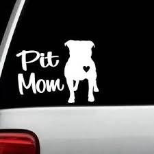 Pit Mom Pit Bull Pitbull Dog Decal Sticker Bg101 For Car Window Laptop Heart Ebay