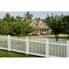 Wambam Fence 4 Ft X 7 Ft Premium Vinyl Classic Picket Fence Panel With Post And Cap Vf13003 At The Home Depot House Fence Design Fence Design Backyard Fences